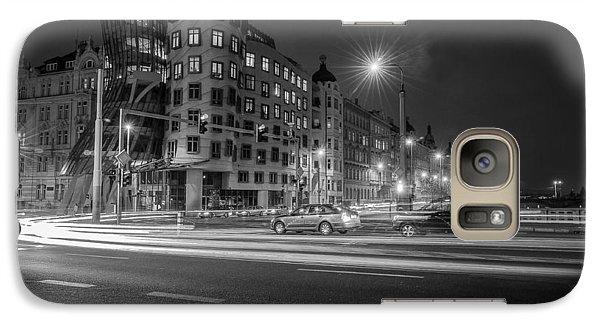Galaxy Case featuring the photograph Dancing House  B-w by Sergey Simanovsky