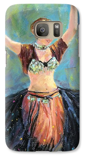 Galaxy Case featuring the painting Dancing In The Air by Jieming Wang