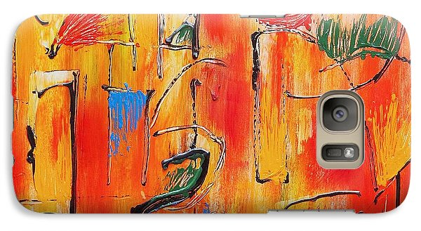 Galaxy Case featuring the painting Dancing In The Heat by Jason Williamson