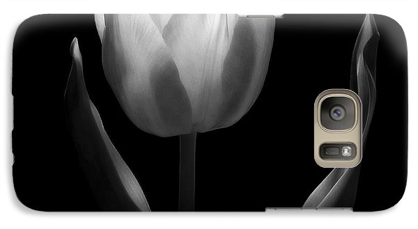 Galaxy Case featuring the photograph Abstract Black And White Tulips Flowers Art Work Photography by Artecco Fine Art Photography