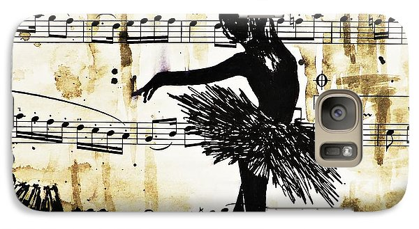 Galaxy Case featuring the painting Dancing In The Rain by AmaS Art
