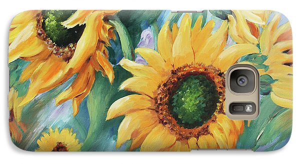 Galaxy Case featuring the painting Dancing In The Wind by Marta Styk