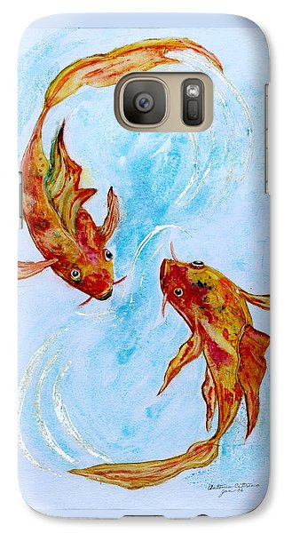 Galaxy Case featuring the painting Dancing Koi Sold by Antonia Citrino