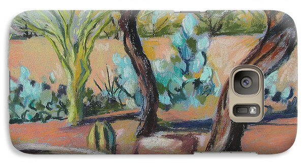 Galaxy Case featuring the painting Dancing Mesquite Trees by Linda Novick