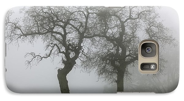 Galaxy Case featuring the photograph Dancing Oaks In Fog - Central California by Ram Vasudev