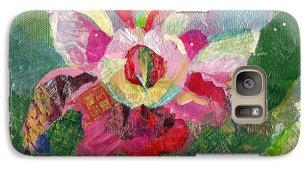 Dancing Orchid II Galaxy Case by Shadia Derbyshire