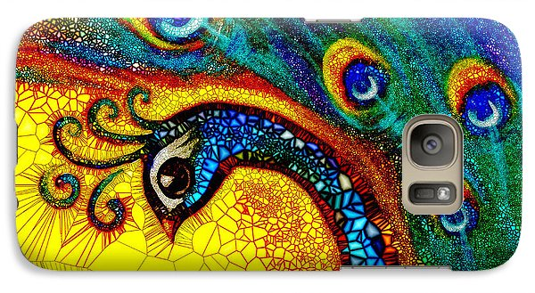 Galaxy Case featuring the painting Dancing Peacock by Agata Lindquist