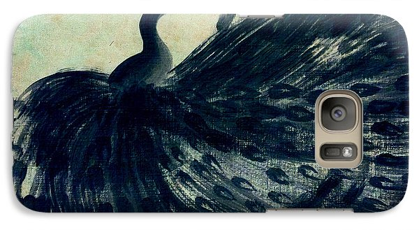 Galaxy Case featuring the painting Dancing Peacock Mint by Anita Lewis