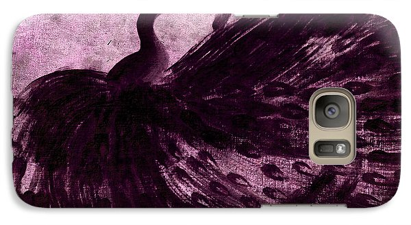Galaxy Case featuring the painting Dancing Peacock Plum by Anita Lewis