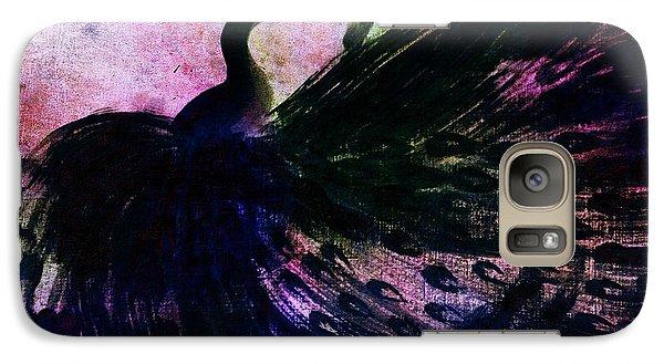 Galaxy Case featuring the digital art Dancing Peacock Rainbow by Anita Lewis