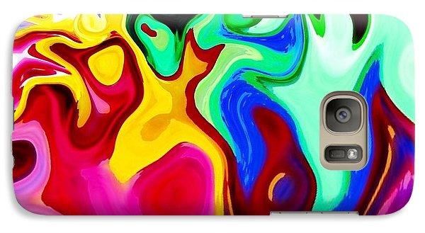 Galaxy Case featuring the digital art Dancing Spirits  by Annie Zeno