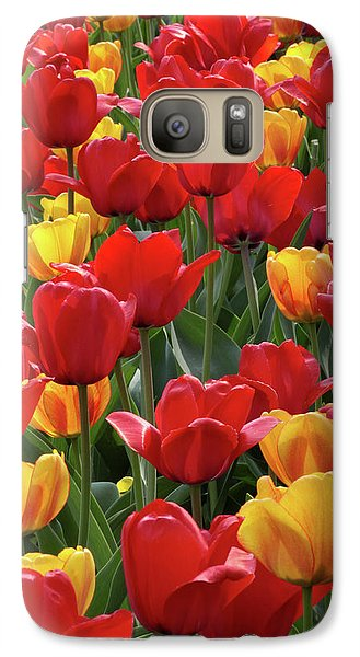 Galaxy Case featuring the photograph Dancing Tulips by Harold Rau