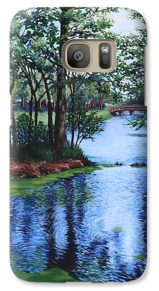 Galaxy Case featuring the painting Dancing Waters by Penny Birch-Williams