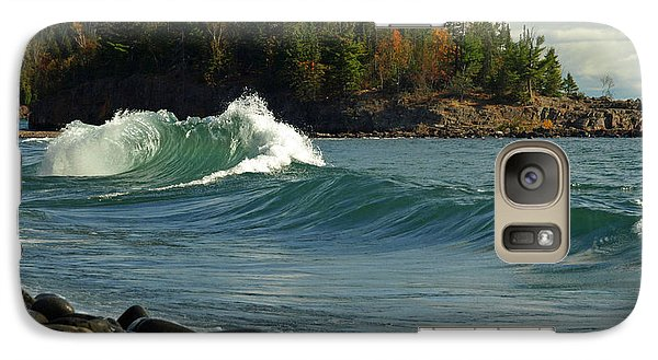 Galaxy Case featuring the photograph Dancing Waves by James Peterson