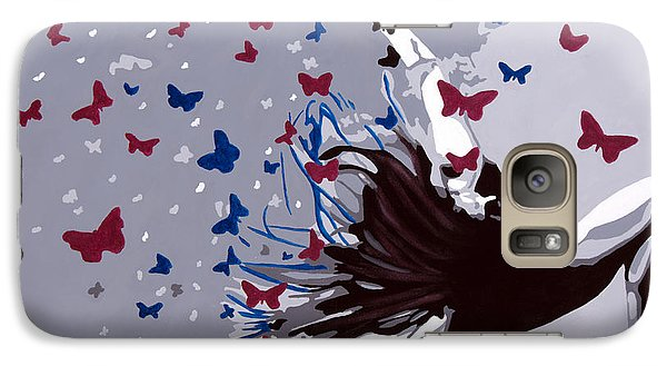 Galaxy Case featuring the painting Dancing With Butterflies by Denise Deiloh