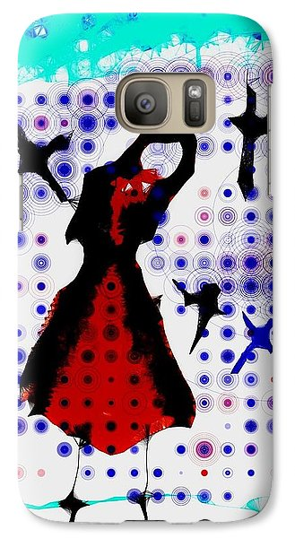 Galaxy Case featuring the photograph Dancing With The Birds by Jessica Shelton