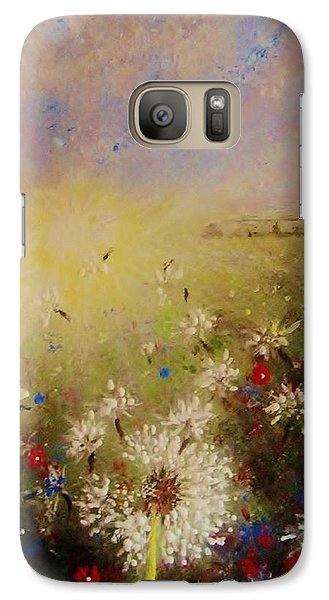 Galaxy Case featuring the painting Dancing With The Sun... by Cristina Mihailescu