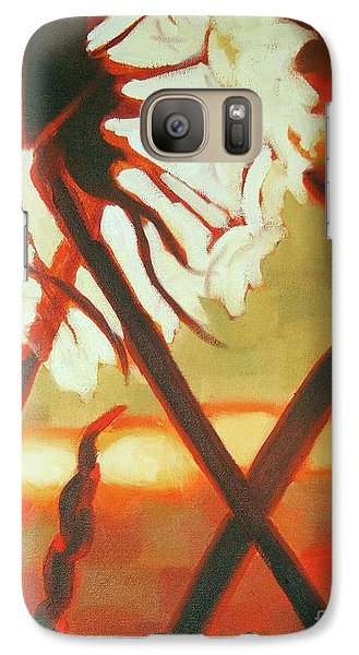 Galaxy Case featuring the painting Dandelion At Last Light by Janet McDonald