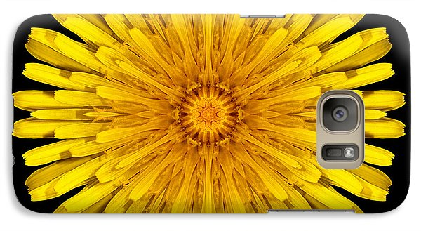 Galaxy Case featuring the photograph Dandelion Flower Mandala by David J Bookbinder