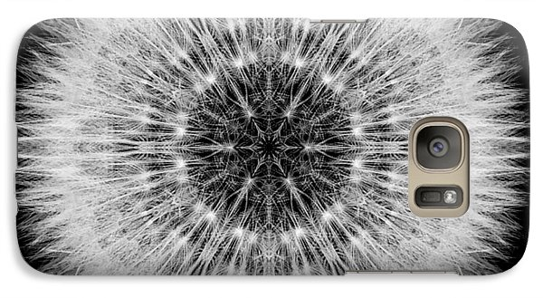 Galaxy Case featuring the photograph Dandelion Head Flower Mandala by David J Bookbinder