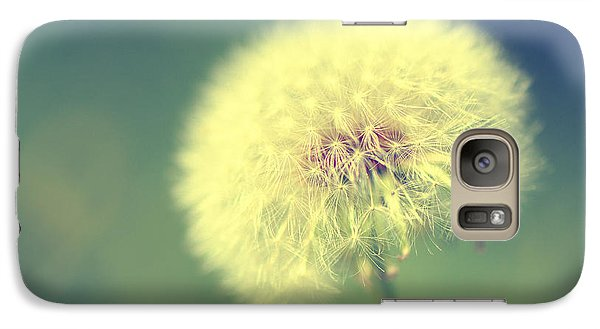 Galaxy Case featuring the photograph Dandelion Seed Head by Karen Slagle