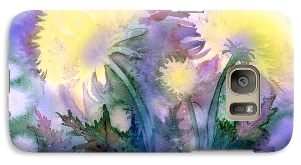 Galaxy Case featuring the painting Dandelions by Teresa Ascone