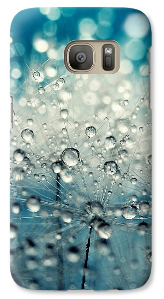Galaxy Case featuring the photograph Dandy Blue And Drops by Sharon Johnstone