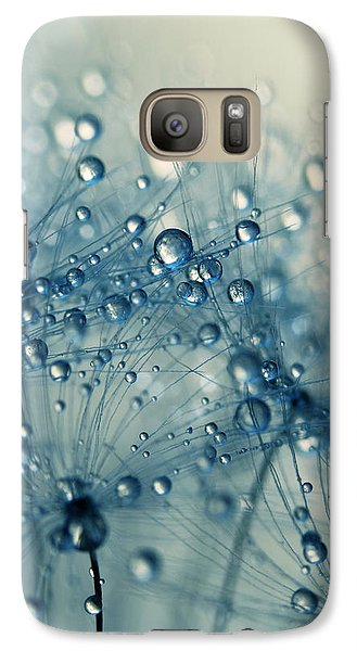 Galaxy Case featuring the photograph Dandy Blue Shower by Sharon Johnstone