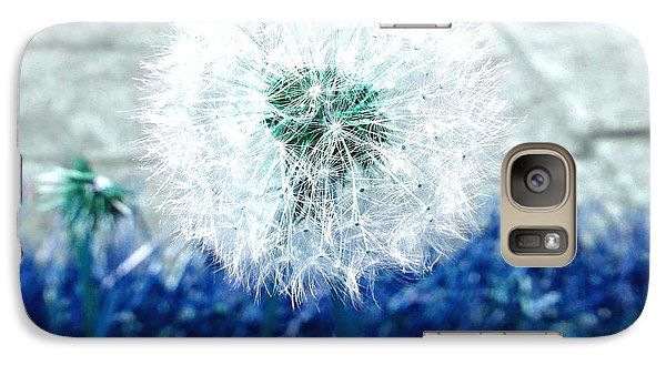 Galaxy Case featuring the photograph Dande Clock Blue by Laurie Tsemak