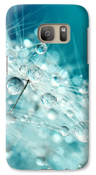 Galaxy Case featuring the photograph Dandy Starburst In Blue by Sharon Johnstone