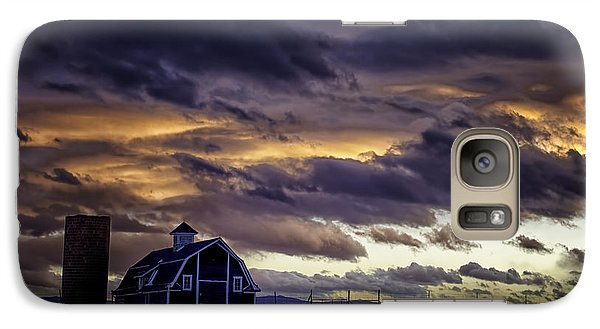 Galaxy Case featuring the photograph Daniel's Foreboding Sunset by Kristal Kraft
