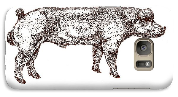 Galaxy Case featuring the drawing Danish Duroc by Larry Campbell