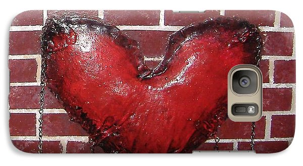 Galaxy Case featuring the mixed media Daphnes Heart by Steve  Hester