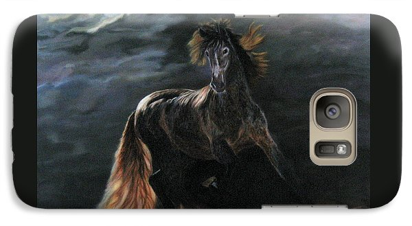 Galaxy Case featuring the painting Dappled Horse In Stormy Light by LaVonne Hand