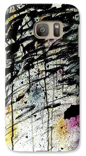 Galaxy Case featuring the painting Dare 2 B Different by Oddball Art Co by Lizzy Love