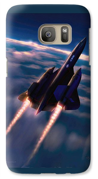 Galaxy Case featuring the painting Dark Angel by Dave Luebbert