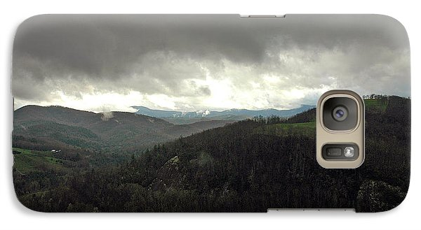 Galaxy Case featuring the photograph Dark Clouds Over Cashiers by Allen Carroll