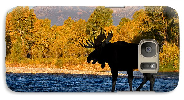 Galaxy Case featuring the photograph Dark Side Moose                               by Aaron Whittemore