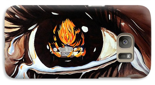 Galaxy Case featuring the painting Dark Sorrow  by Jackie Carpenter
