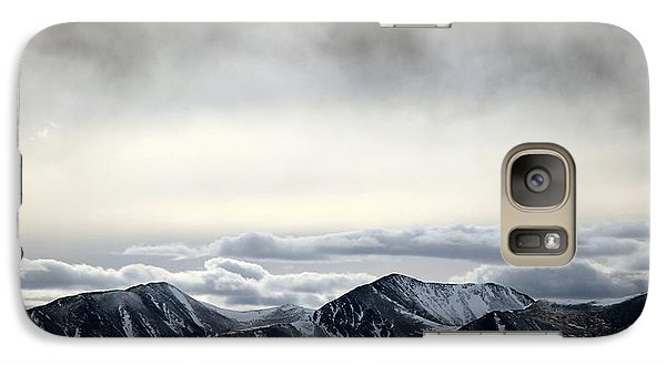 Galaxy Case featuring the photograph Dark Storm Cloud Mist  by Barbara Chichester