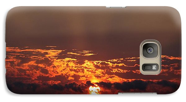 Galaxy Case featuring the photograph Dark Sunset by Erica Hanel