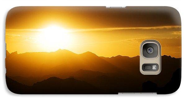 Dark Sunset Over The Matzatzals Galaxy S7 Case