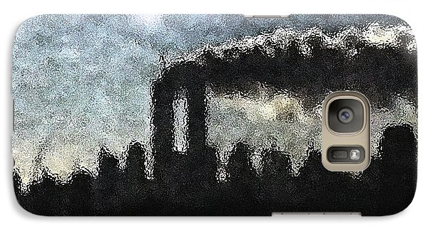 Galaxy Case featuring the digital art Dark Surreal Silhouette  by James Kosior