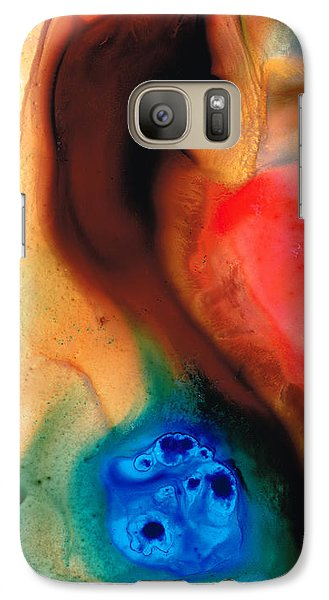 Dark Swan - Abstract Art By Sharon Cummings Galaxy S7 Case by Sharon Cummings