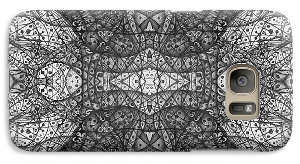 Galaxy Case featuring the drawing Dark Symetry by Jack Dillhunt