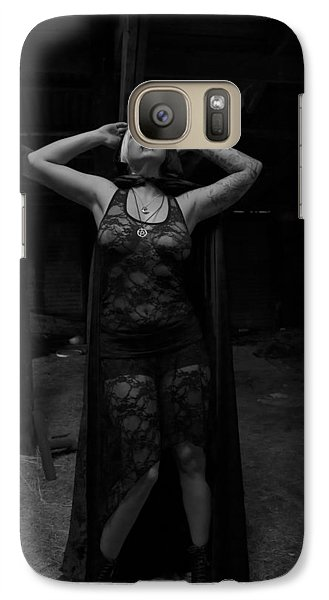 Galaxy Case featuring the photograph Dark Witch's Yearning by Mez