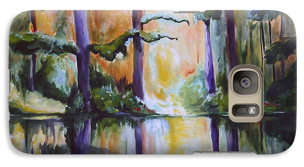 Galaxy Case featuring the painting Dark Woods by Nadine Dennis