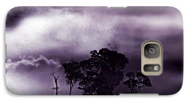 Galaxy Case featuring the painting Dark World by Persephone Artworks