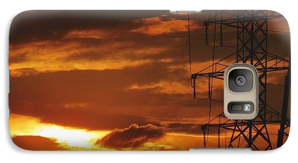 Galaxy Case featuring the photograph Darkened Sunset by Nikki McInnes