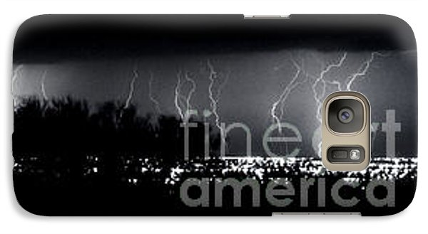 Galaxy Case featuring the photograph Darkness Symphony-15x72-signed by J L Woody Wooden